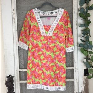 Lilly Pulitzer Floral Sherman Tunic Dress Size 0